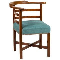 Frühes19. Jahrhundert Walnut Corner Stuhl mit Simple Horizontal Back-Splats