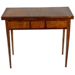 Early 19th Century Walnut Game Folding Table, France, 1810-1820