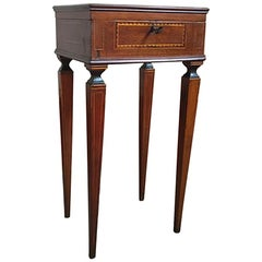 Early 19th Century Walnut Inlaid Side Table, North Italy, circa 1810