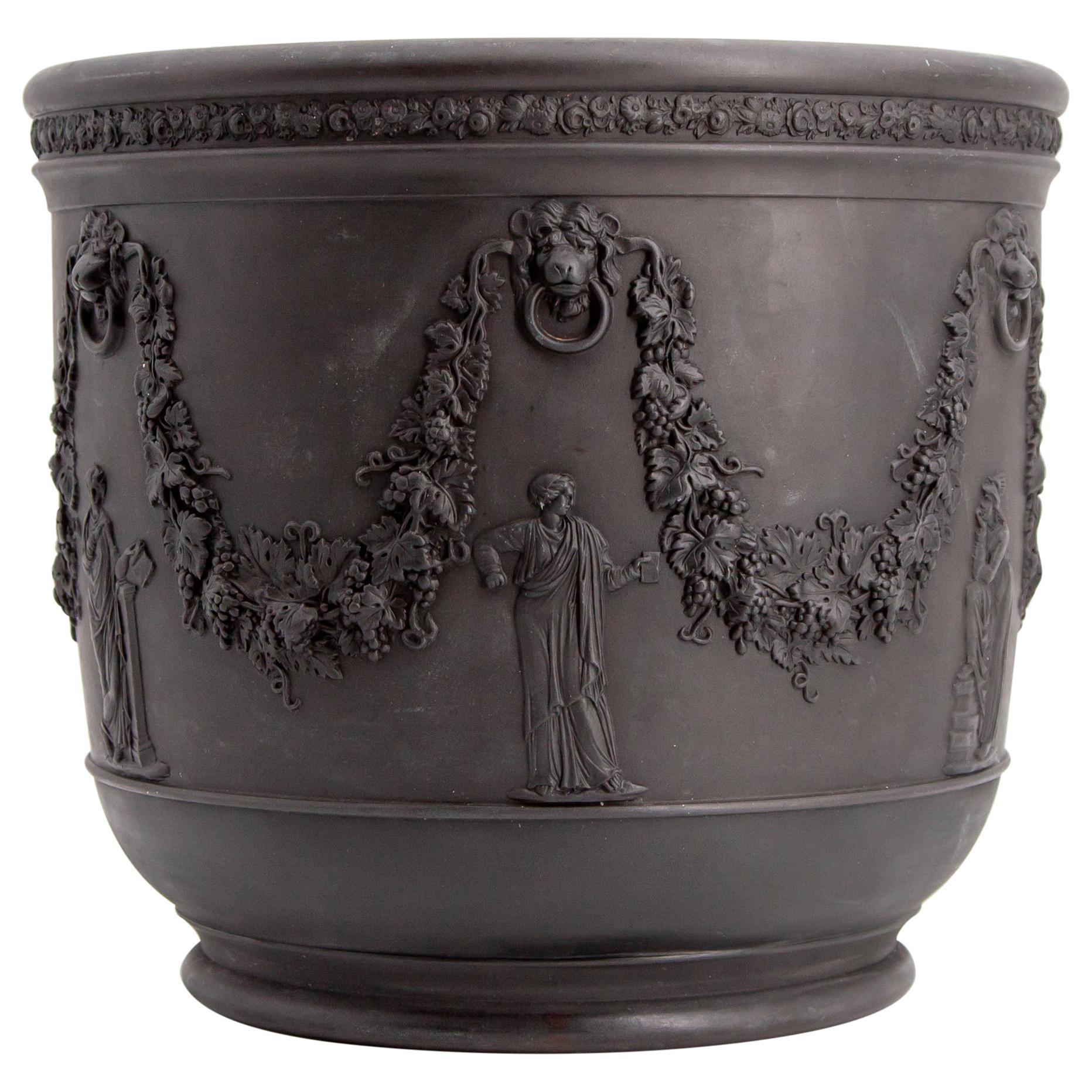 Early 19th Century Wedgwood Black Basalt Jardiniere Cachepot