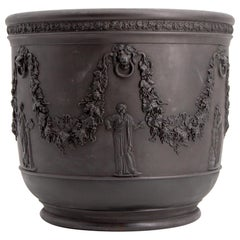Early 19th Century Wedgwood Black Basalt Jardiniere Cachepot