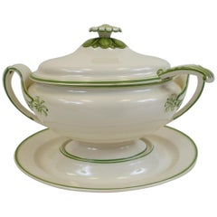 Early 19th Century Wedgwood Creamware Soup Tureen, Stand and Ladle
