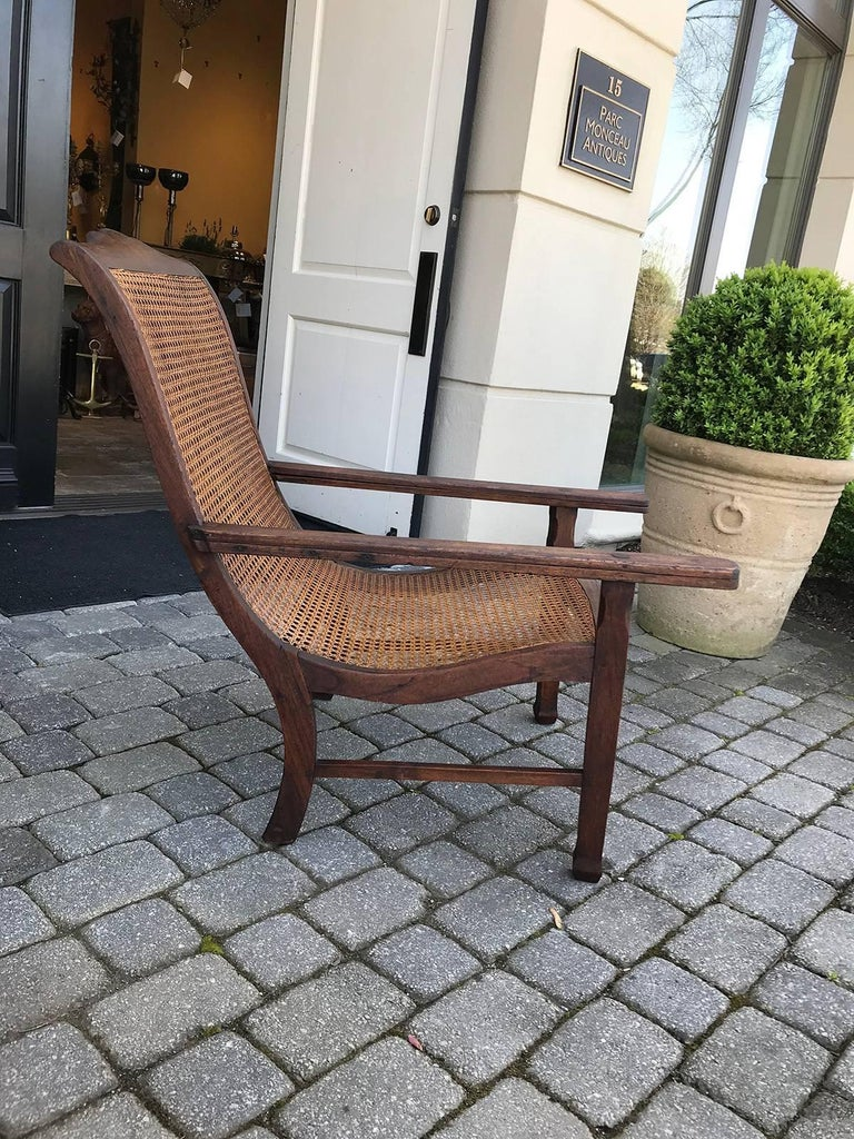 Early 19th century West Indies planters chair. Measures: seat height- 16.5