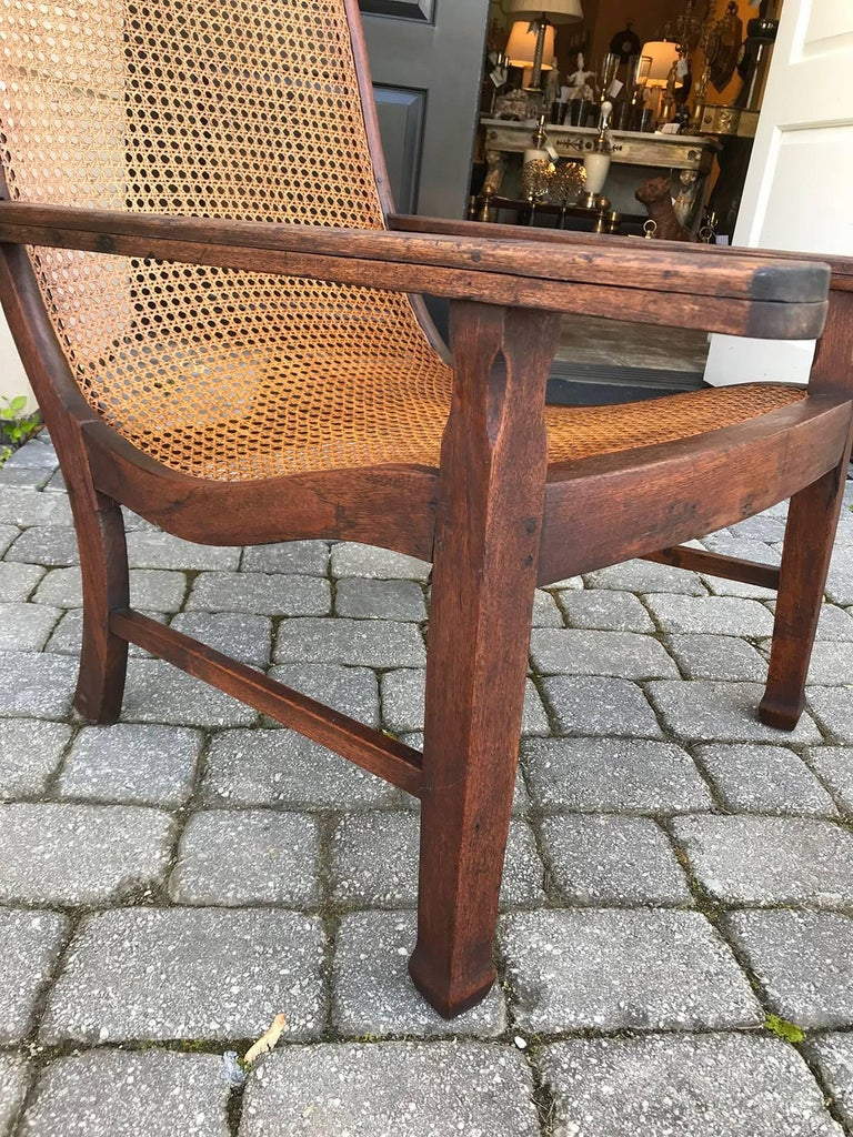 Early 19th Century West Indies Planters Chair In Good Condition For Sale In Atlanta, GA