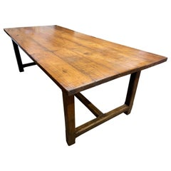 Early 19th Century Wide Cherry Farmhouse Table