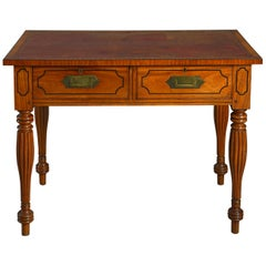 Early 19th Century William IV Period Satinwood Campaign Desk