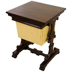 Early 19th Century William IV Rosewood Sewing Table