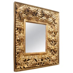 Early 19th Century Wooden Gold Gilded Mirror from Southern Italy