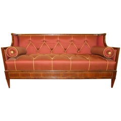 Early 19th Century Yew Wood Baltic Empire Sofa