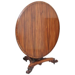Early 19th Century Zebrawood Centre Table