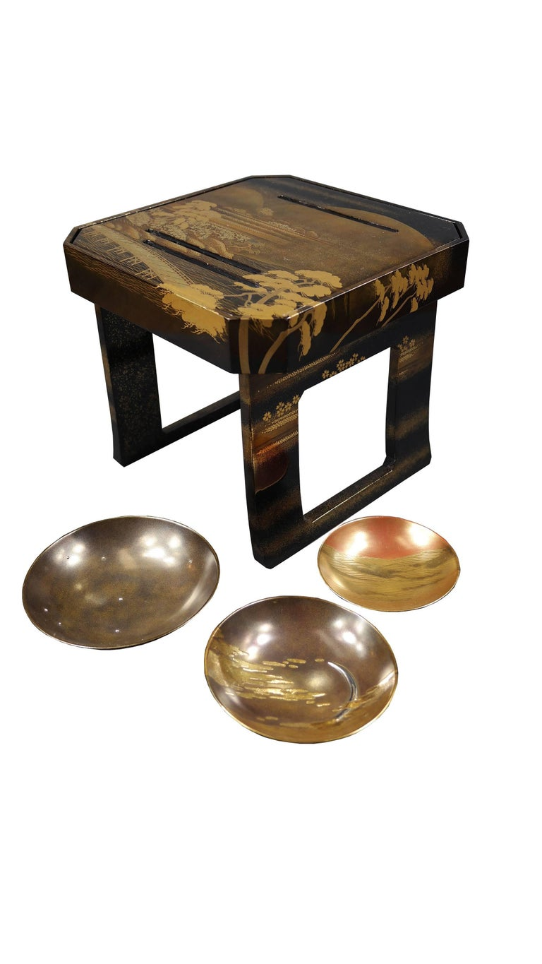 Early 19th Century, Pair of Sake Tables, Edo Period, Art of Japan In Good Condition For Sale In Hong-Kong, HK