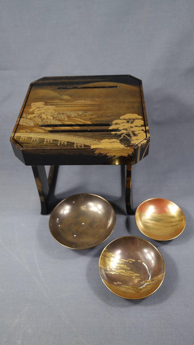 Early 19th Century, Pair of Sake Tables, Edo Period, Art of Japan For Sale 1