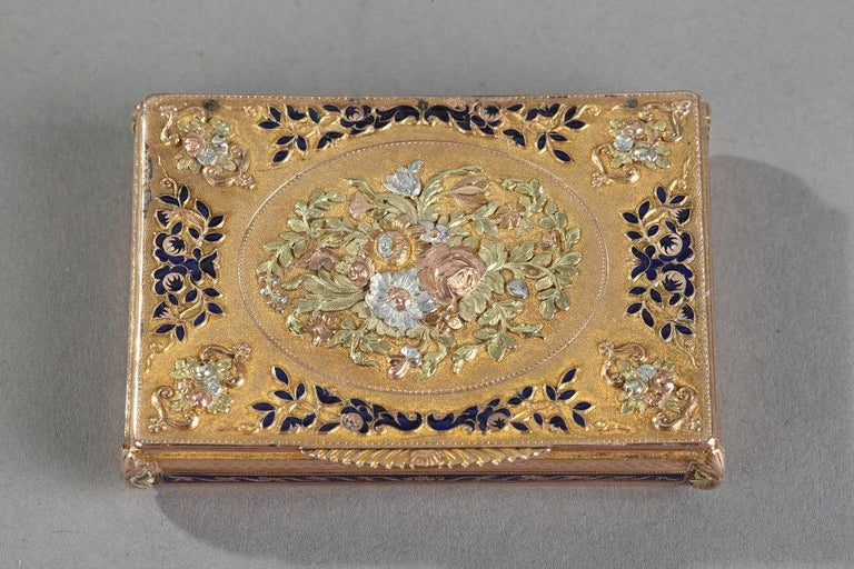 Early 19th Century Gold and Enamel Box, Swiss Work For Sale 5