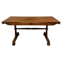 Early 19th Century Regency Rosewood Library Centre Table in Super Condition