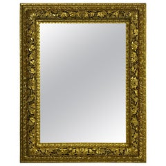 Early 19th Venetian Rectangular Carved and Gild Mirror
