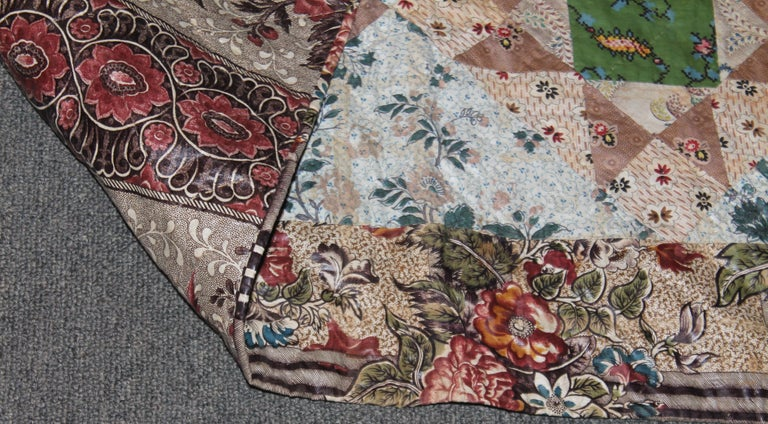 Early 19th Century Chintz Stars from Lancaster, Pennsylvania For Sale 1