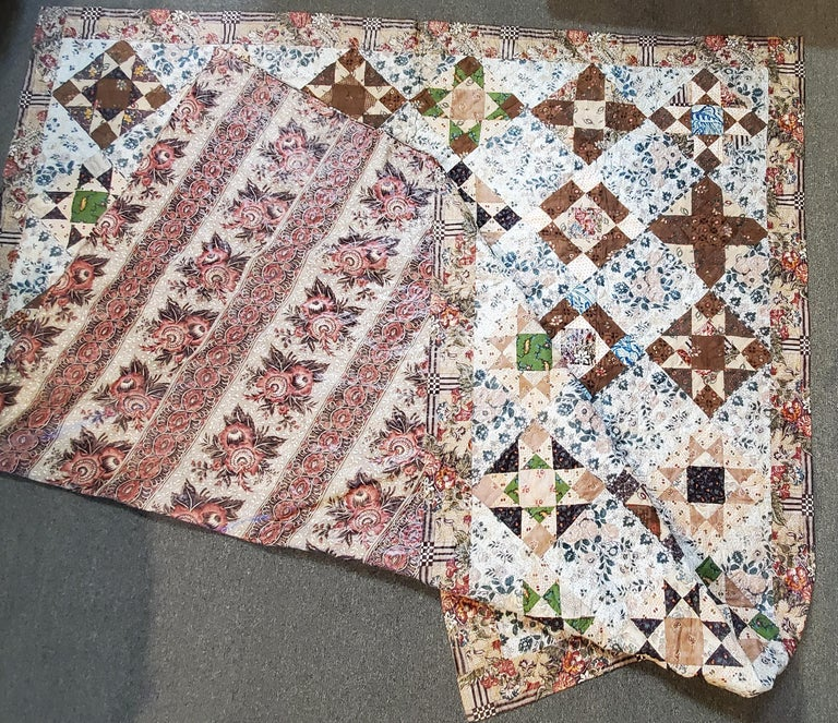 Early 19th Century Chintz Stars from Lancaster, Pennsylvania For Sale 2