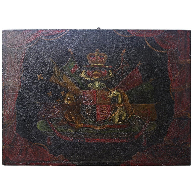 Coach Panel the Order of the Garter Royal Coat of Arms Armorial For Sale