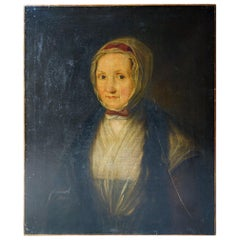 Early 19thC English School Oil on Canvas Portrait of a Lady, c.1800