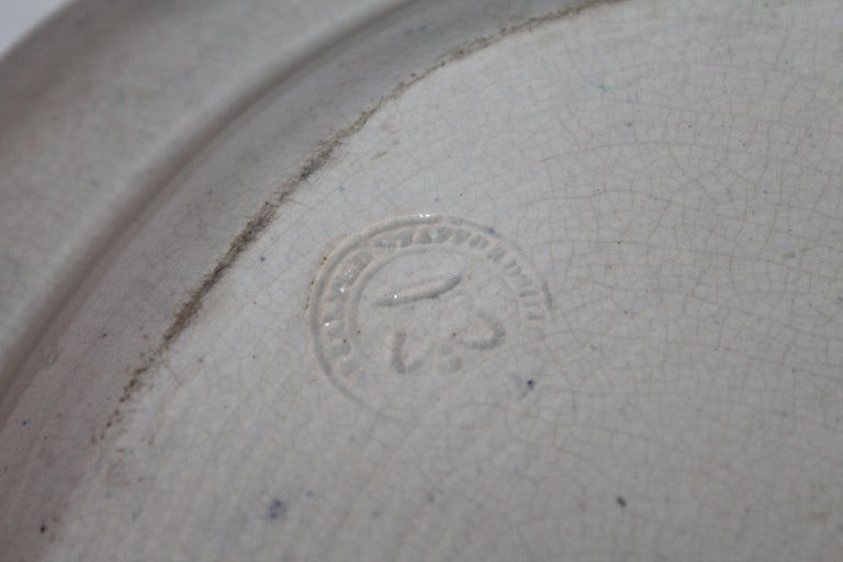 Early 19th Century Historical Blue Pottery Platter For Sale 2