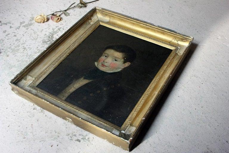 Early 19th Century Irish School Oil on Board of a Young Boy, circa 1810-1825 5