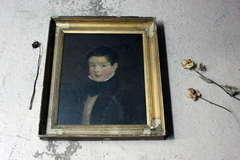 Early 19th Century Irish School Oil on Board of a Young Boy, circa 1810-1825 6