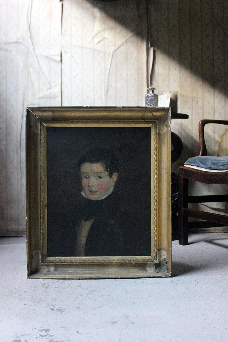 Early 19th Century Irish School Oil on Board of a Young Boy, circa 1810-1825 10