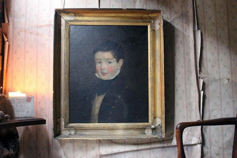 Early 19th Century Irish School Oil on Board of a Young Boy, circa 1810-1825 11