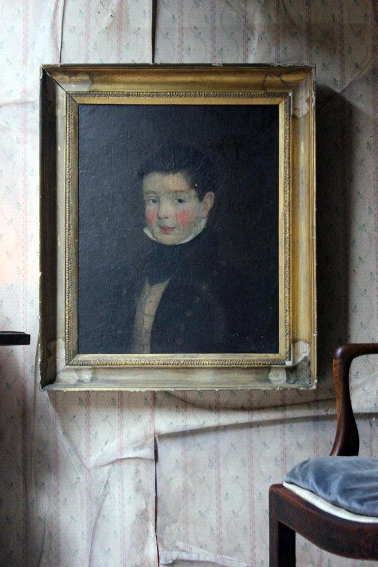 Early 19th Century Irish School Oil on Board of a Young Boy, circa 1810-1825 13