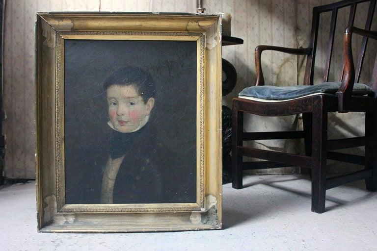 Early 19th Century Irish School Oil on Board of a Young Boy, circa 1810-1825 3