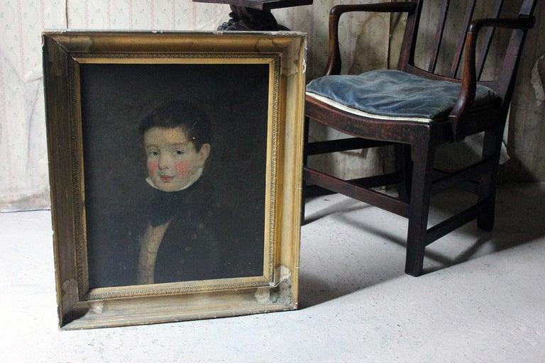 Early 19th Century Irish School Oil on Board of a Young Boy, circa 1810-1825 4