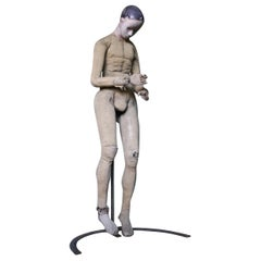 Life-Size French Articulated Mannequin Artist Antique Lay Figure