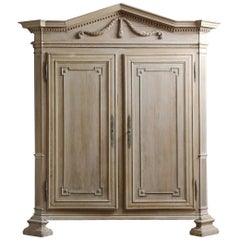 Early 19th Century Neoclassical Bleached Armoire
