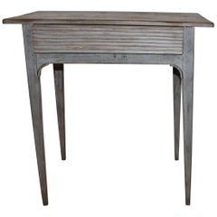 Early 19th Century Original Grey Painted Side Table