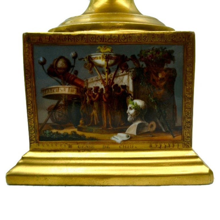 French Early 19th Century Paris Porcelain Urn For Sale