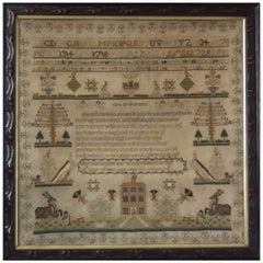 Early 19th Century Sampler by Harriett Bayliss