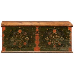 Early 19th Century Swedish Marriage/Dowry Chest