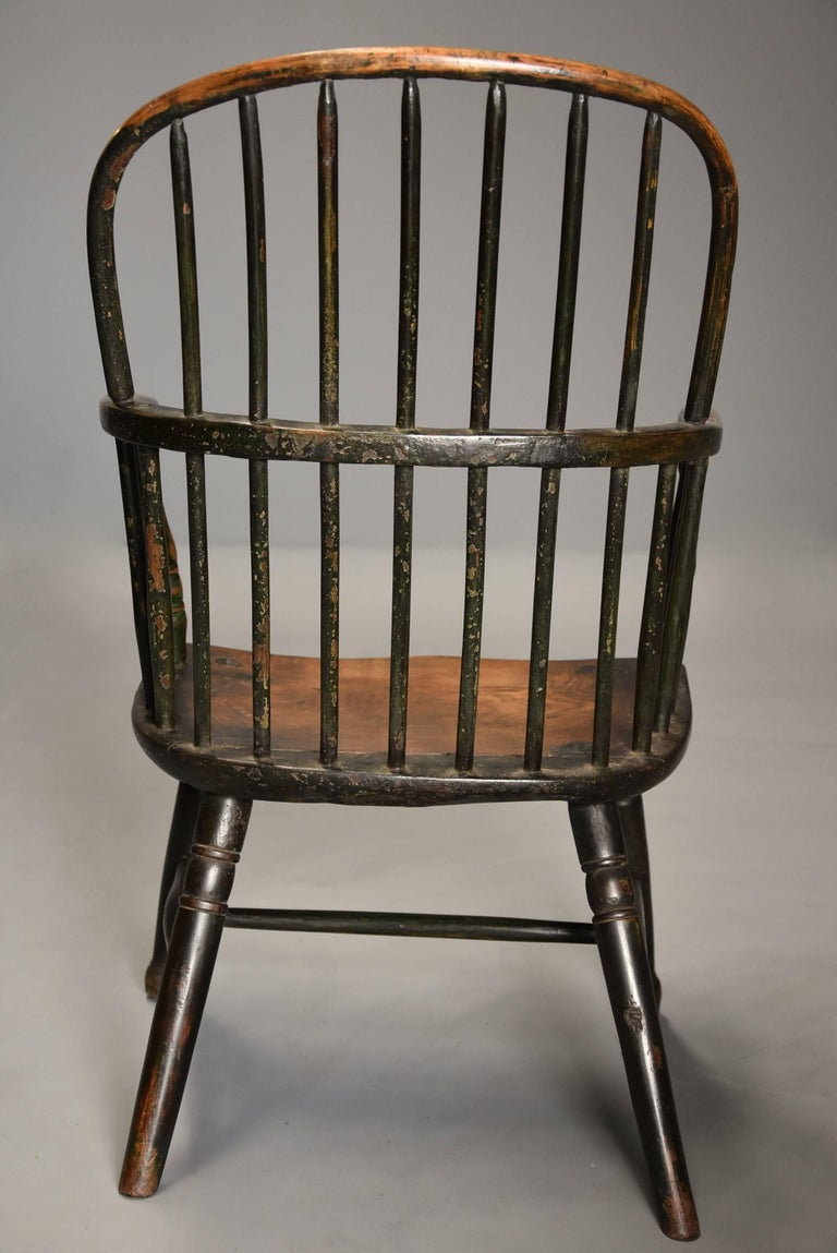 Early 19th Century West Country Ash Hoop Back Windsor Chair For Sale 6