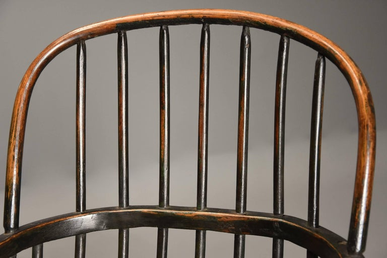 Early 19th Century West Country Ash Hoop Back Windsor Chair For Sale 1
