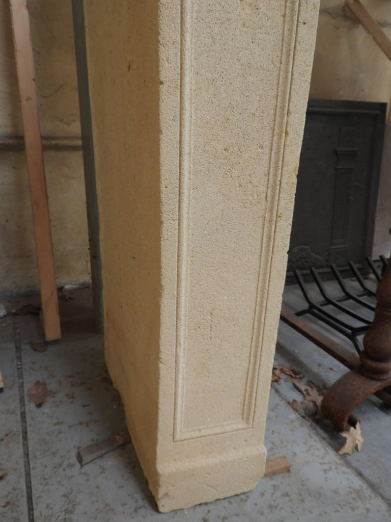 Early 19the Century Louis XVI Fireplace in French Limestone For Sale 9