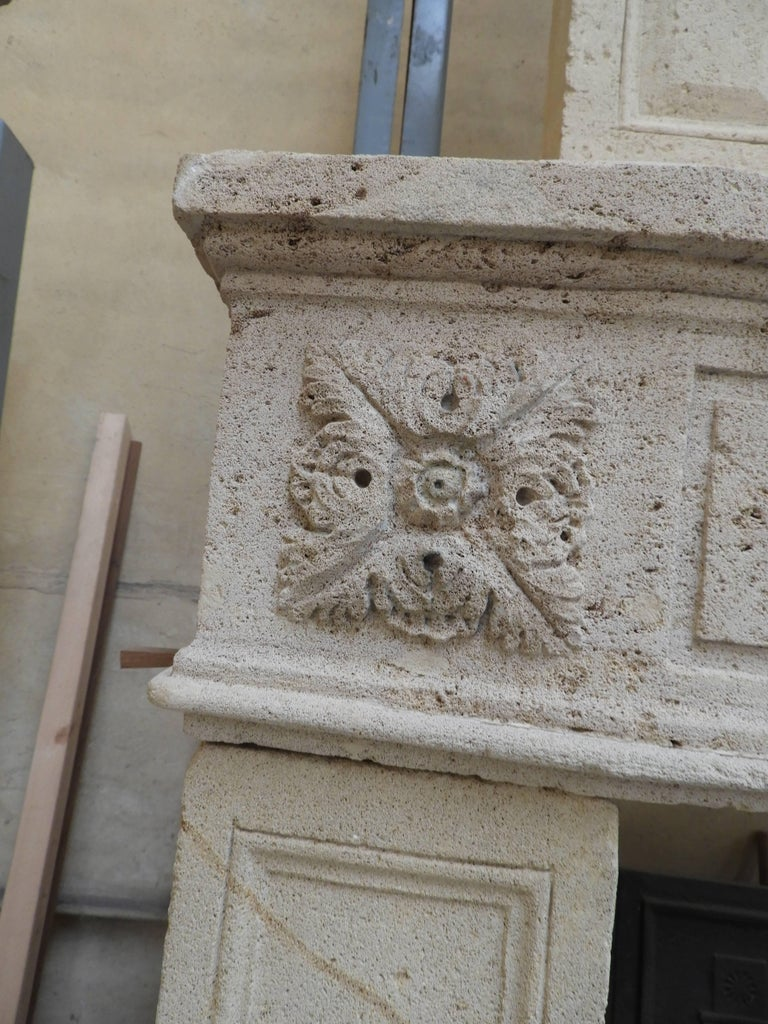 Early 19the Century Louis XVI Fireplace in French Limestone For Sale 10