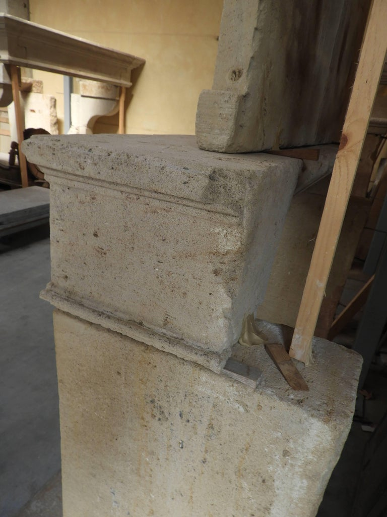 Early 19the Century Louis XVI Fireplace in French Limestone For Sale 13