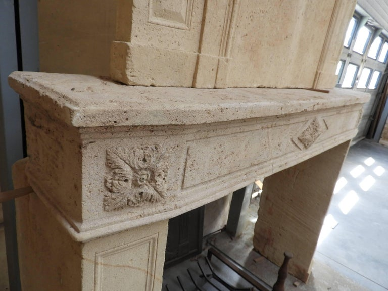 Early 19the Century Louis XVI Fireplace in French Limestone For Sale 2