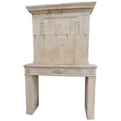 Early 19the Century Louis XVI Fireplace in French Limestone