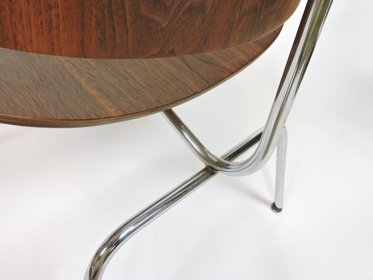 Early First Edition Eames Walnut LCM Chair for Evans For Sale 3