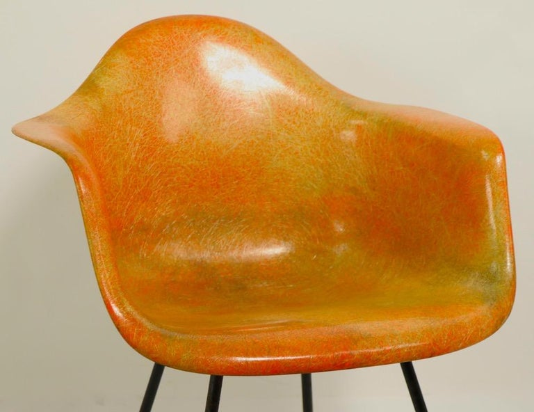 Mid-Century Modern Early 1st Generation Eames Rope Edge Zenith SAX Chair For Sale