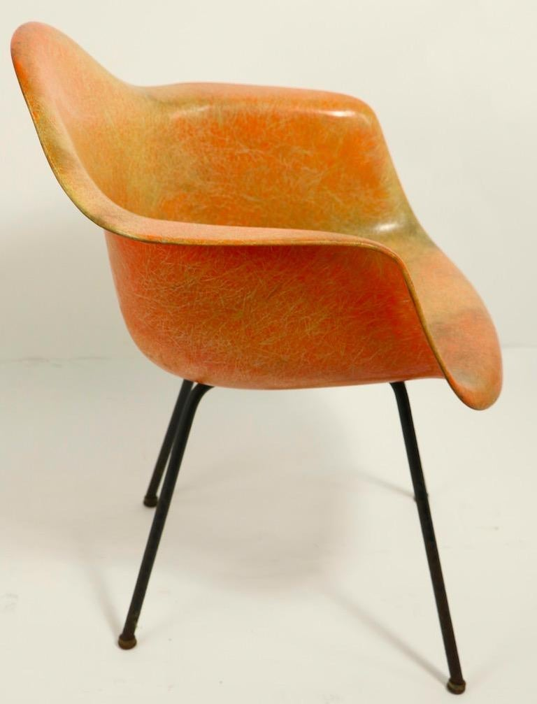 Early 1st Generation Eames Rope Edge Zenith SAX Chair In Fair Condition For Sale In New York, NY