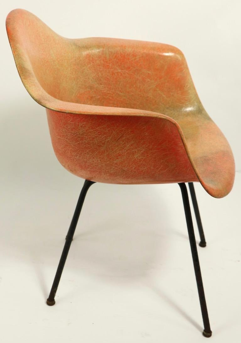 Metal Early 1st Generation Eames Rope Edge Zenith SAX Chair For Sale