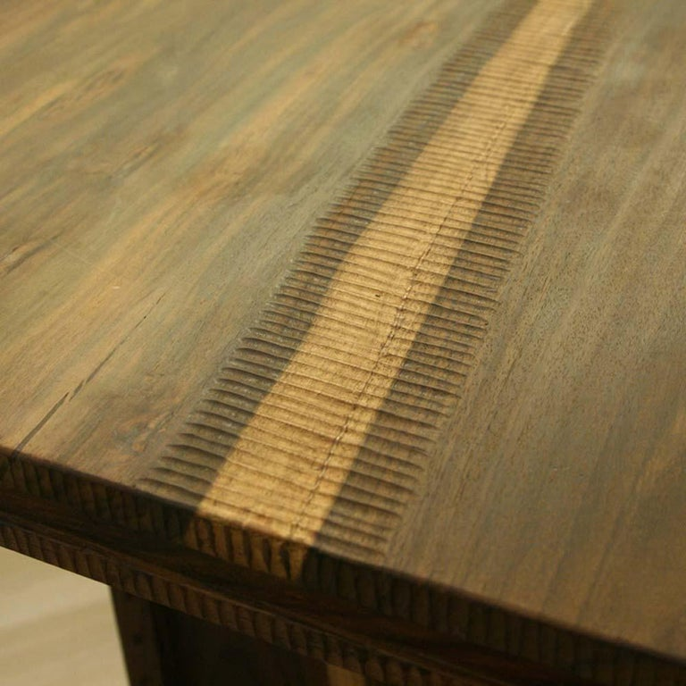 Modern Early 2000 Impressive Wooden Dining Table Italian Design by Anacleto Spazzapan For Sale