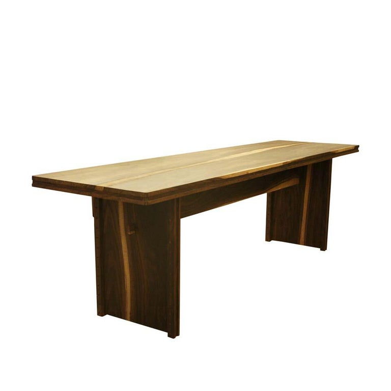 Early 2000 Impressive Wooden Dining Table Italian Design by Anacleto Spazzapan In Good Condition For Sale In London, GB